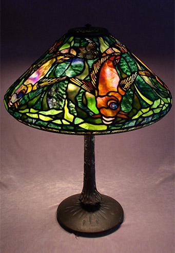 Tiffany lamp shades handmade by scott riggs small tiffany lamps aloadofball Image collections