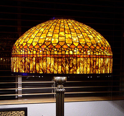 Extra large tiffany lamp shades 24 inch amber curtain border aloadofball Images