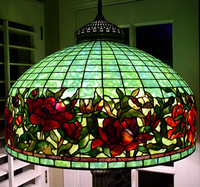 Extra large tiffany lamp shades 24 inch border peony aloadofball Images