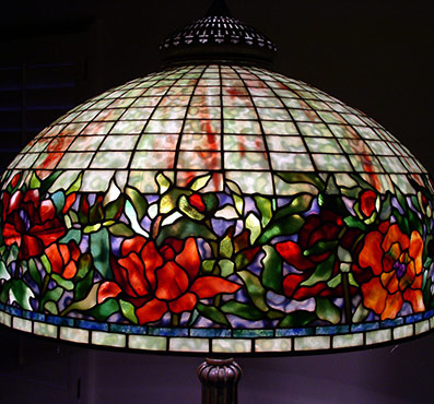 Extra large tiffany lamp shades 24 inch blue border peony aloadofball