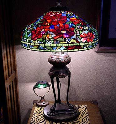 Large tiffany lamp shades 22 inch red peony aloadofball Images